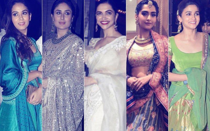 BEST DRESSED & WORST DRESSED This Diwali: Mira Rajput, Kareena Kapoor, Deepika Padukone, Sonam Kapoor Or Alia Bhatt?