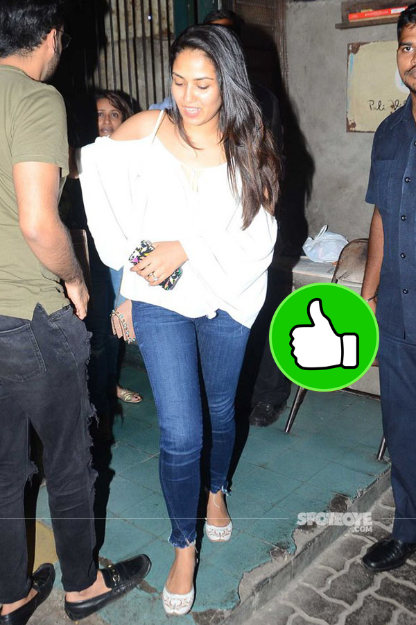 mira rajput snapped post exiting a city resturant at a suburb