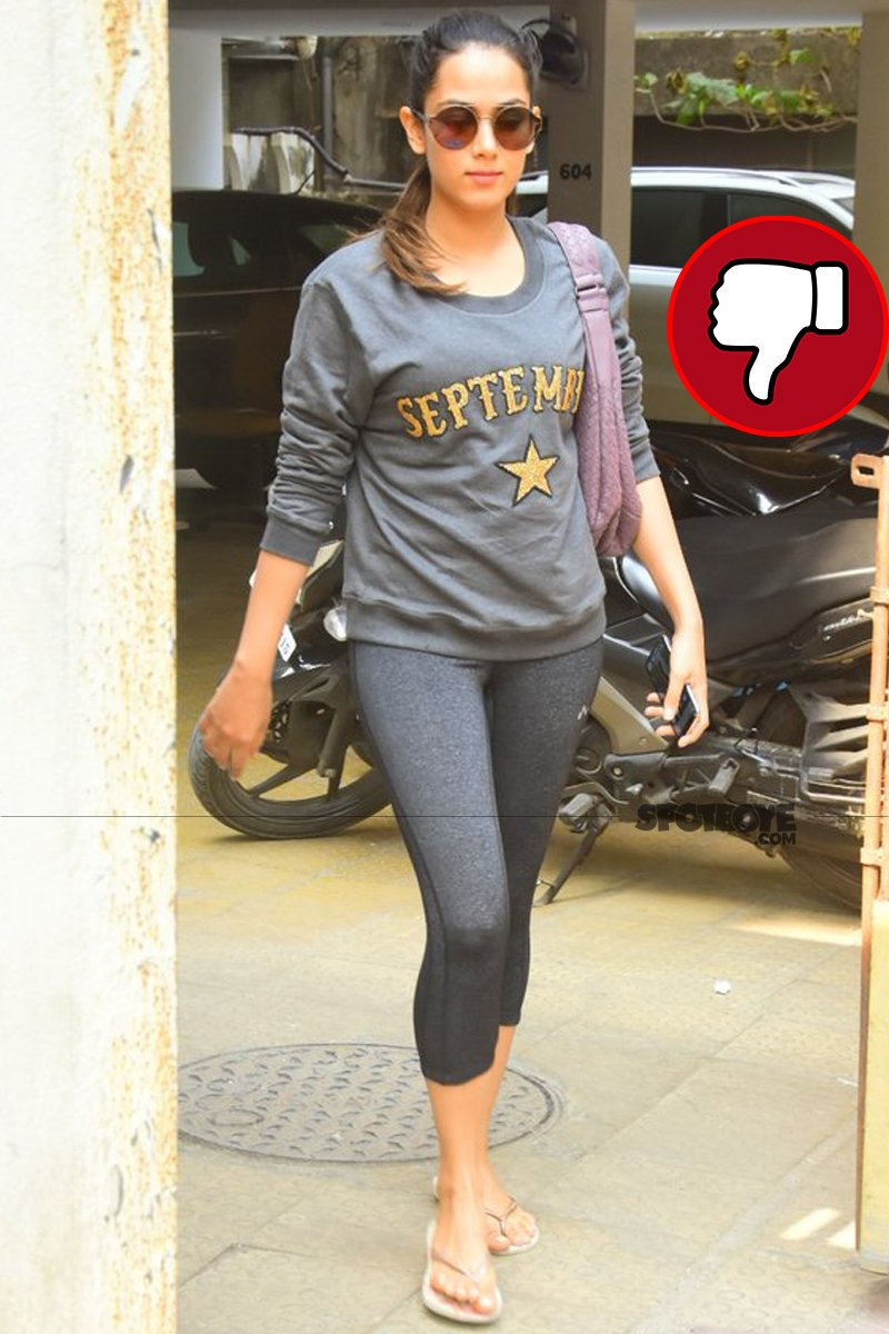 mira rajput snapped post meeting