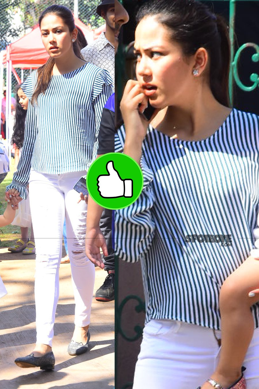 mira rajput snapped with daughter misha