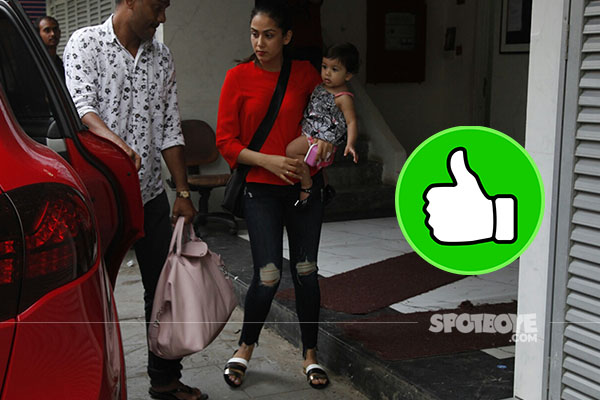 mira rajput with daughter misha in bandra