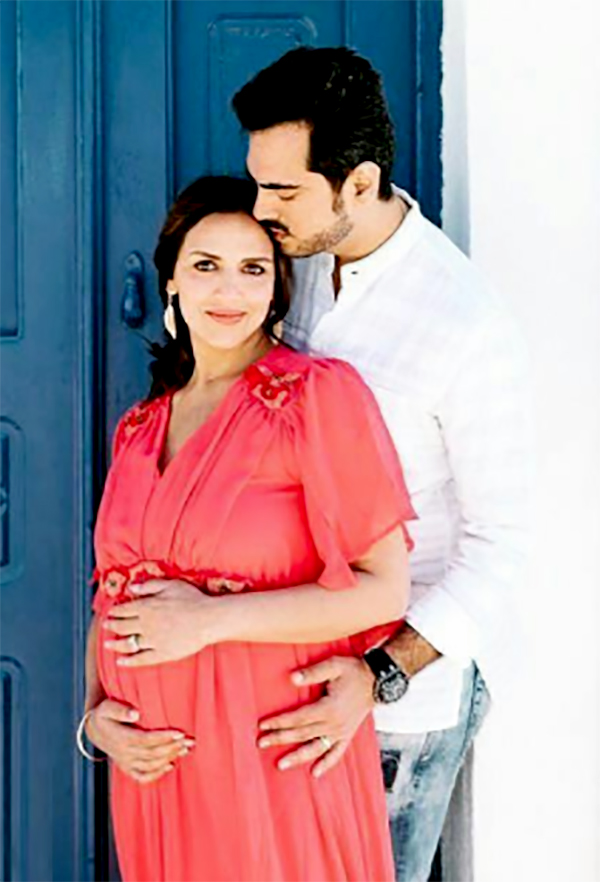 mommy to be esha deol with husband bharat takhtani