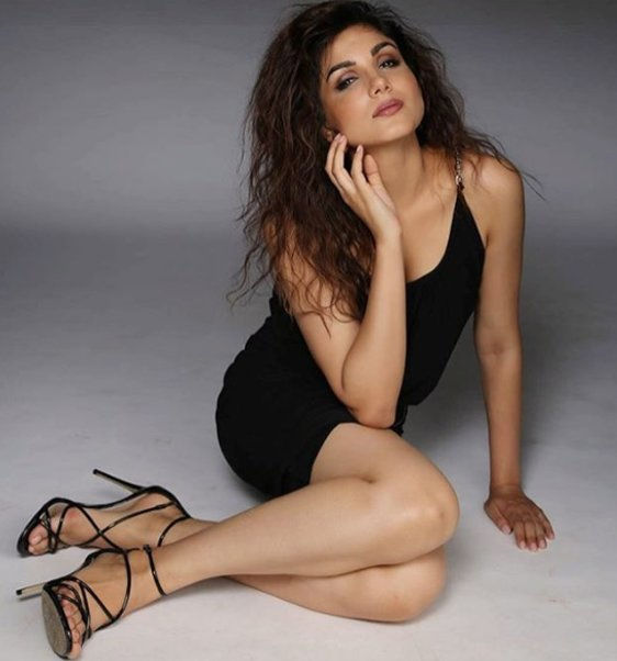 monica gill poses for a photo shoot