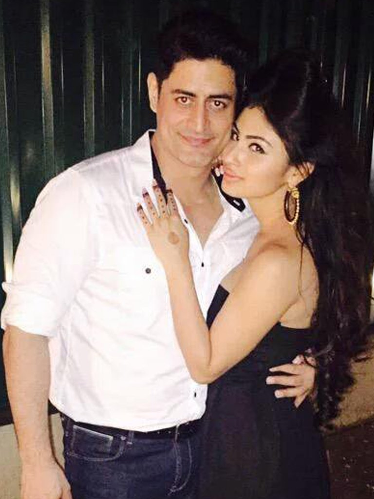 mouni roy with beau mohit raina
