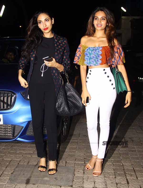 munna michael actress niddhi agerwal walks it with producer prerna arora
