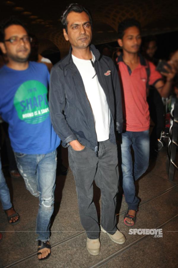 nawazuddin siddiqui at the airport