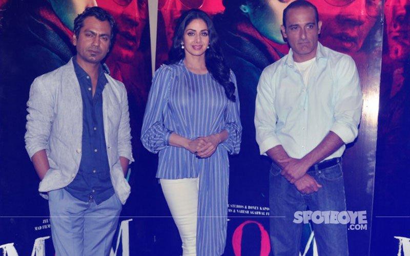 Sridevi, Nawazuddin Siddiqui & Akshaye Khanna Promote Mom