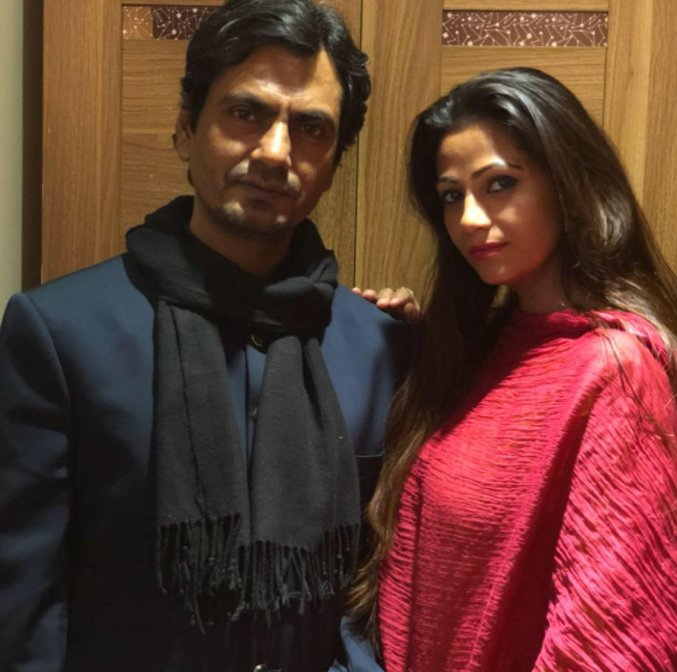 nawazuddin siddiqui with wife aaliyah posing for a cute picture