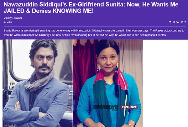 nawazuddin siddiquis ex girlfriend sunita now he wants me jailed denies knowing me