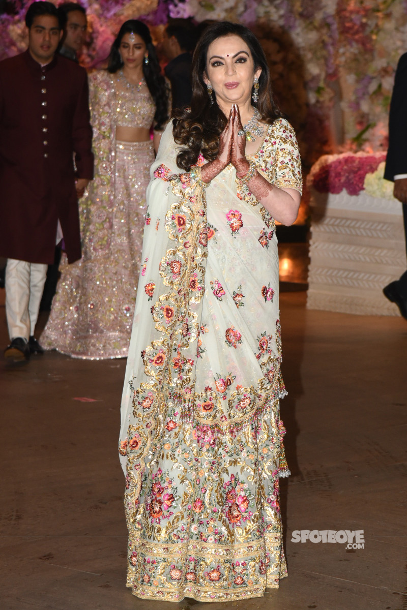 neeta ambani poses for the media