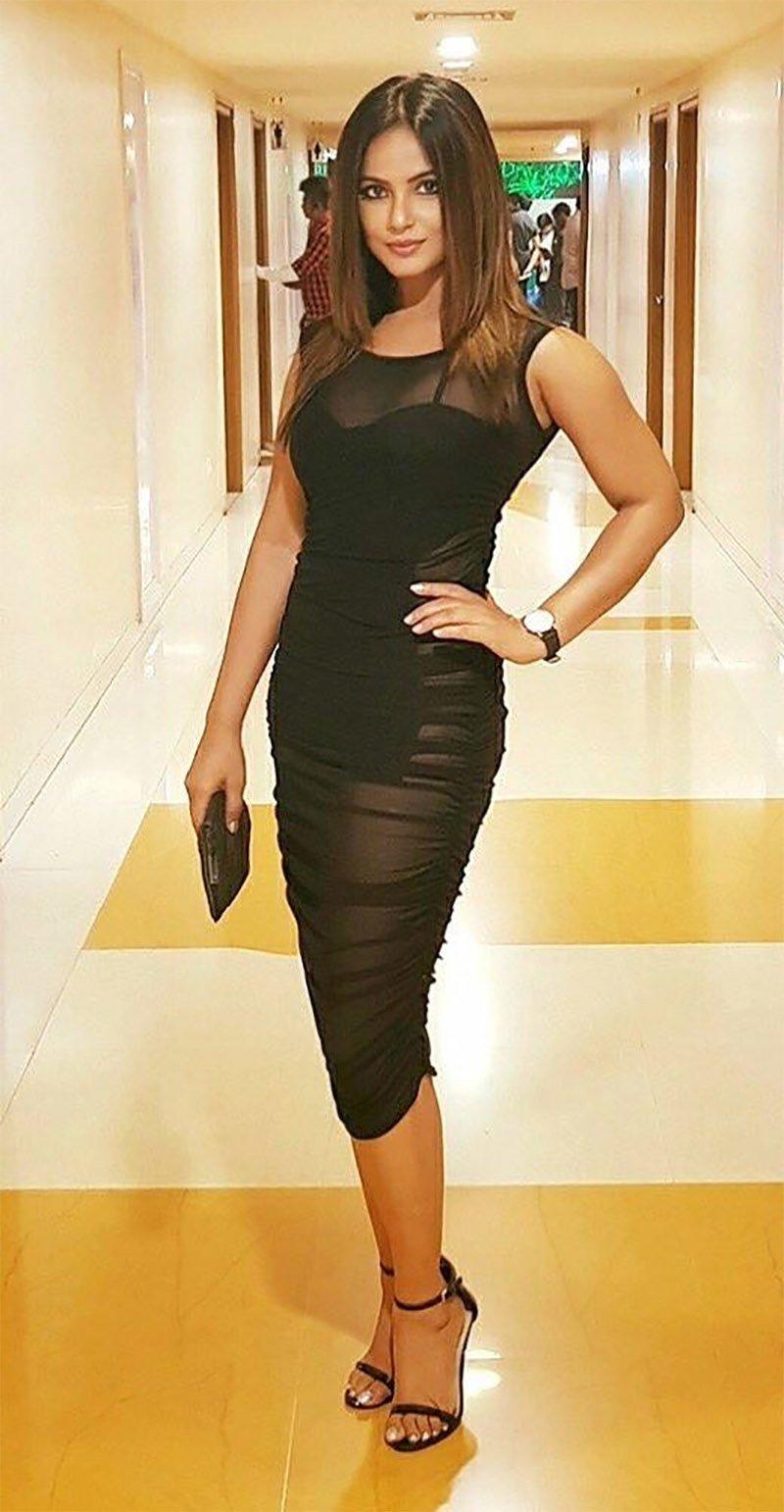 neetu chandra in a sizzling black dress
