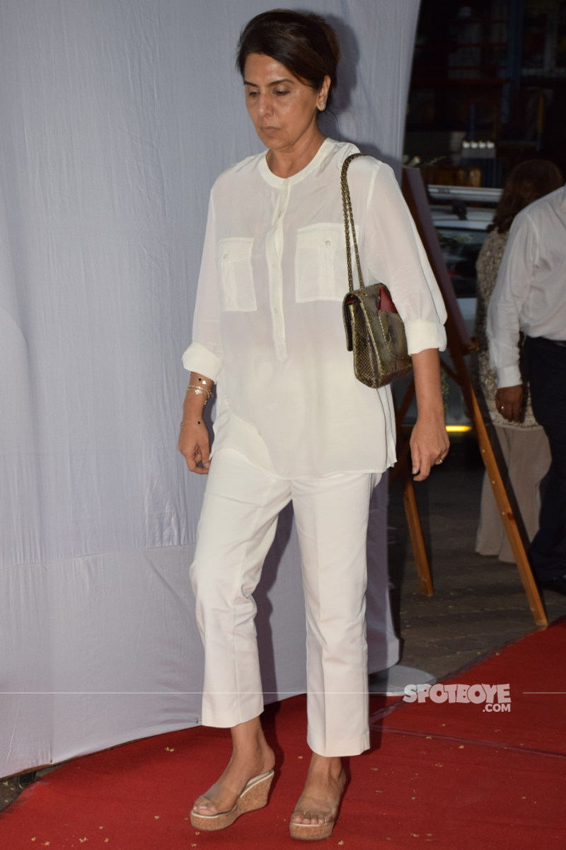 neetu kapoor at ram mukerji prayer meet