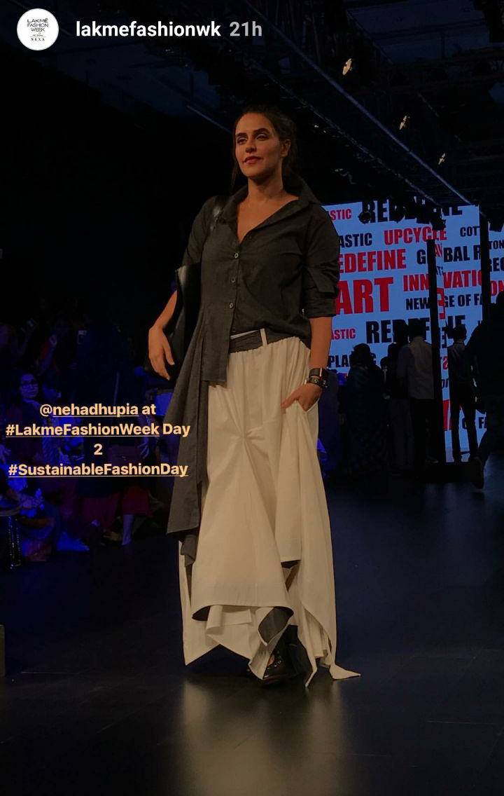 neha dhupia on ramp