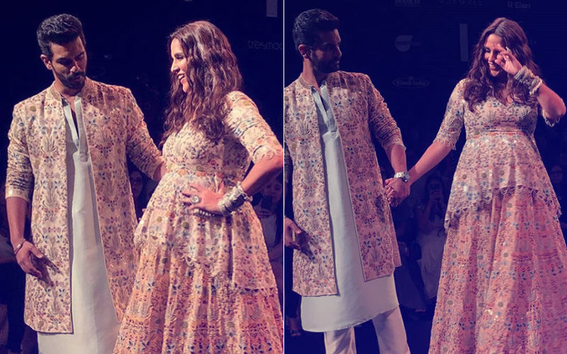 Lakme Fashion Week 2018, Day 4: Pregnant Neha Dhupia Flaunts Her Baby Bump On The Ramp With Angad Bedi