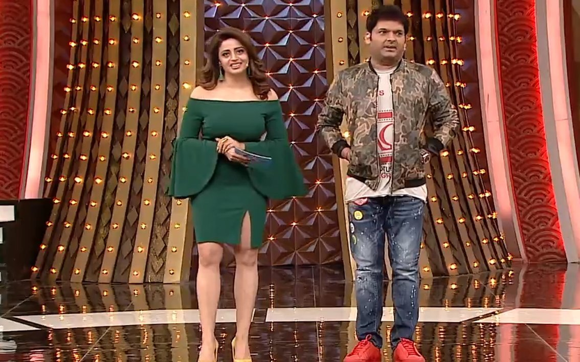 neha pendse with kapil sharma on family time with kapil sharma