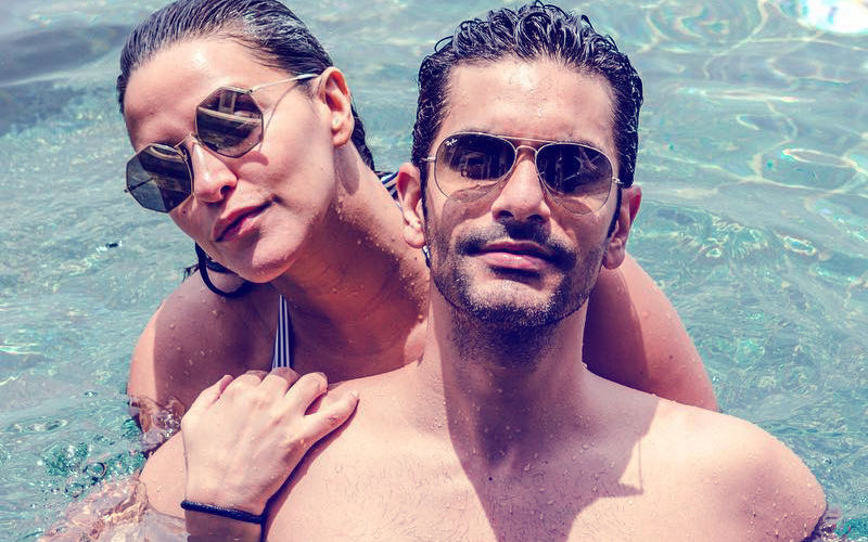 Angad Bedi & Neha Dhupia's Hot Dip In The Maldives