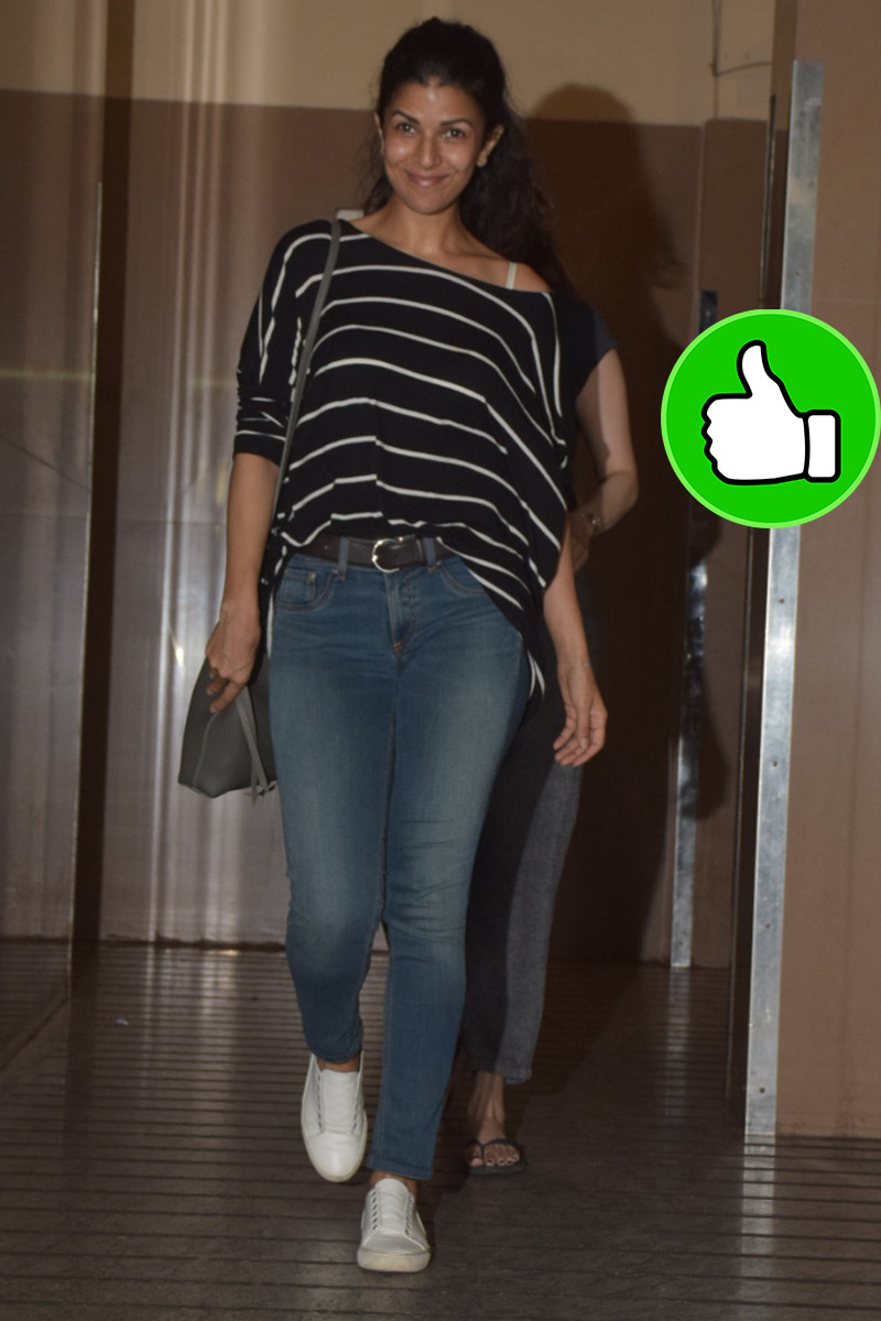 nimrat kaur snapped post watching movie