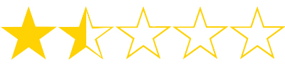 one point five stars