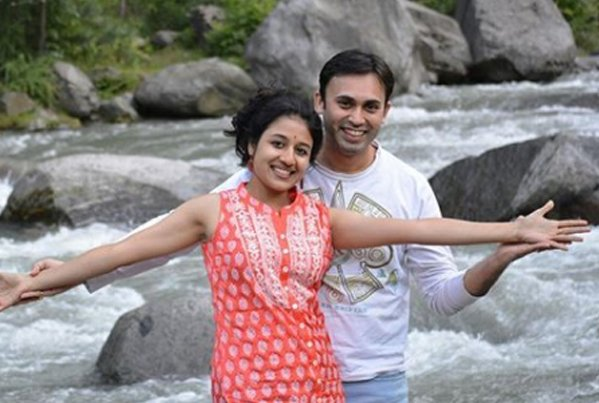 paridhi sharma with husband tanmay saxena