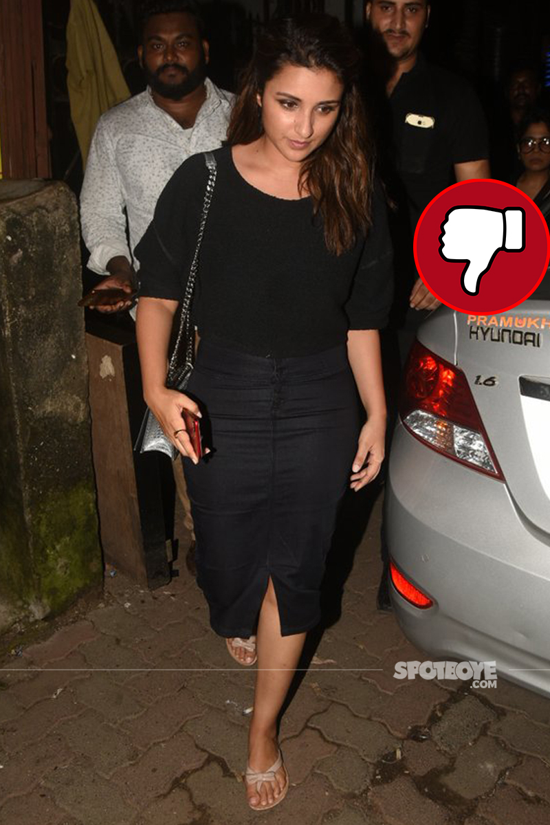 parineeti chopra snapped post dinner with friends