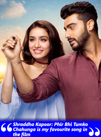 shraddha and arjun in phir bhi tumko chahunga half girlfriend movie song
