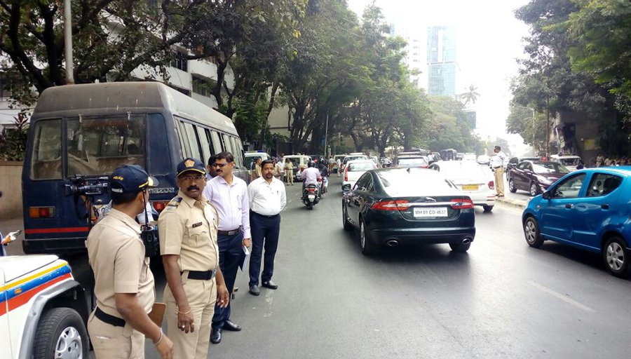 police security outside cbfc office