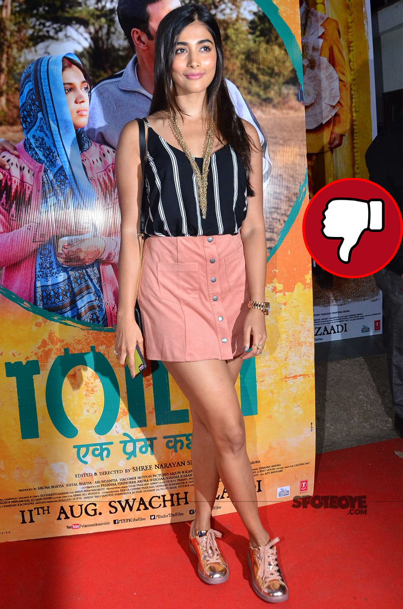 pooja hegde at toilet screening