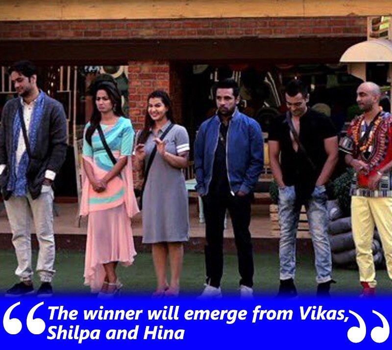 priyank sharma bigg boss 11 winners could be vikas shilpa or hina