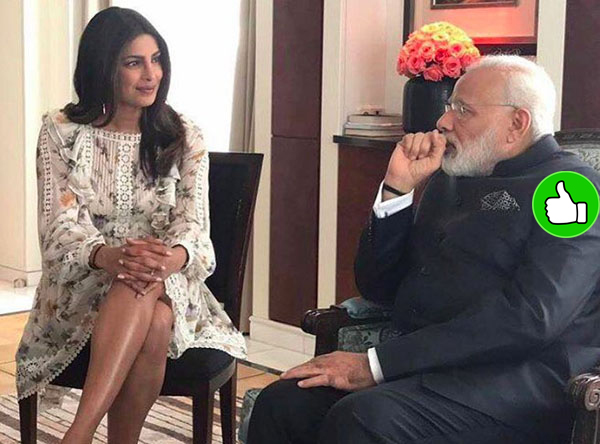 priyanka chopra and narendra modi