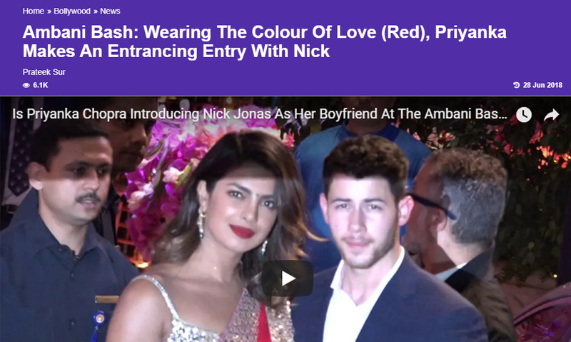 priyanka chopra arrives with nick jonas