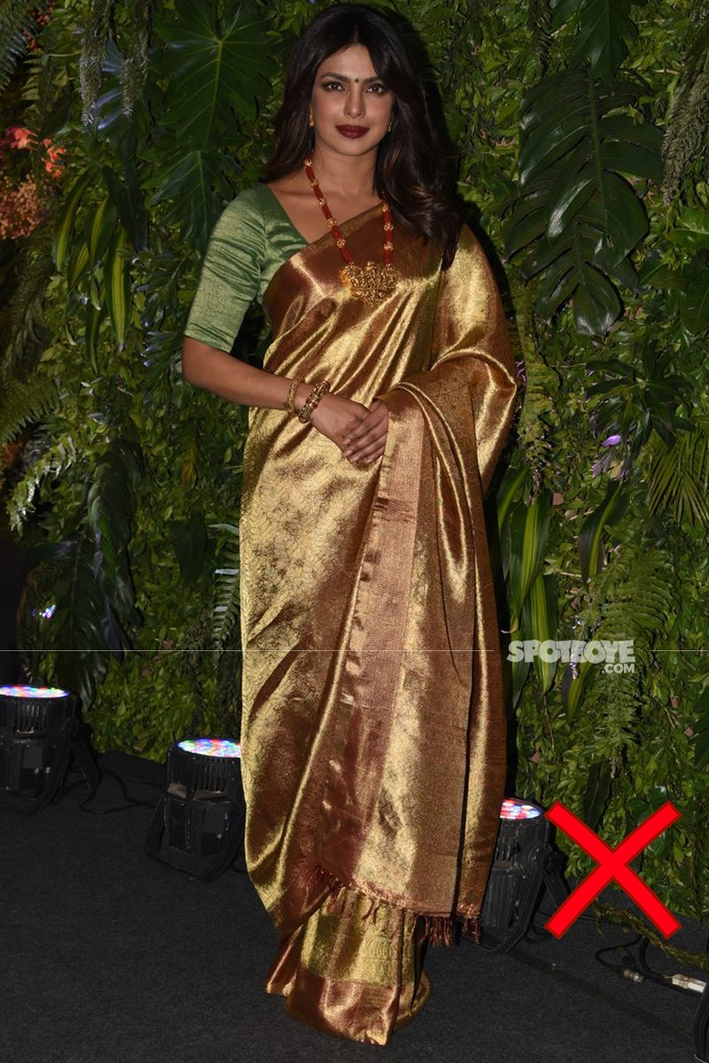 priyanka chopra at anushka sharma wedding reception