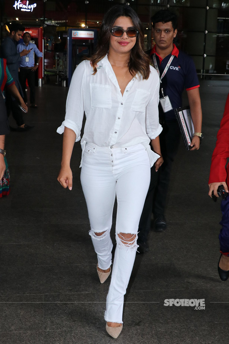 priyanka chopra at the airport