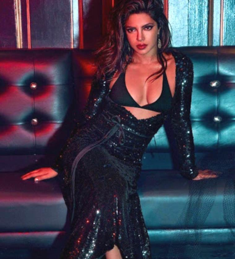 priyanka chopra looks hot in black