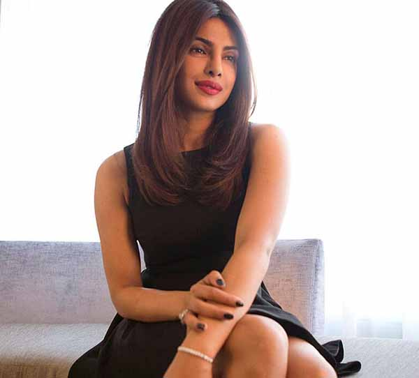 priyanka chopra sweet innocent photoshoot in a black dress