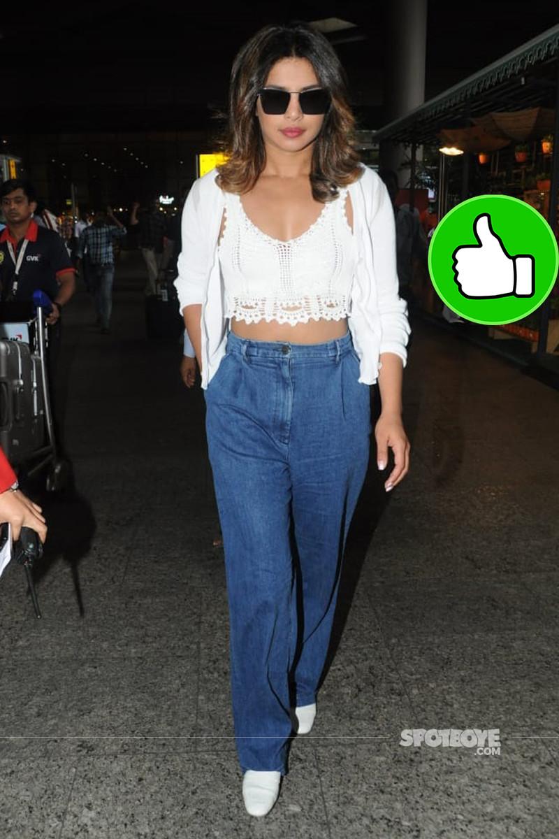 priyanka chopra snapped at mumbai airport