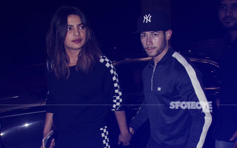 Hand-In-Hand, Lovebirds Priyanka Chopra & Nick Jonas Bid Goodbye To India