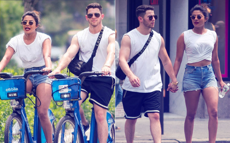 Spotted: Priyanka Chopra & Nick Jonas Cycle Together On NYC Streets