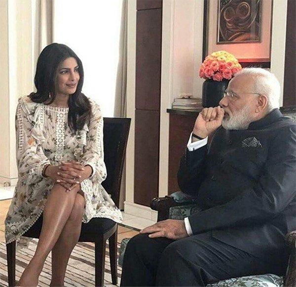 priyanka chopra with prime minister narender modi
