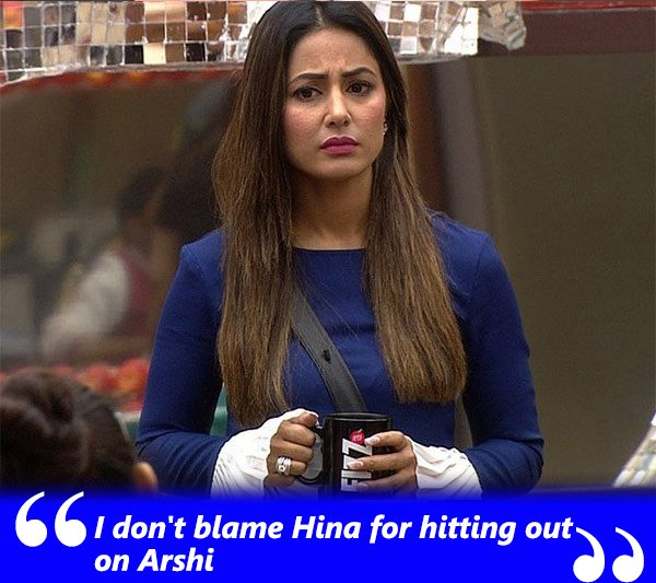 i dont blame hina for hitting out on arshi
