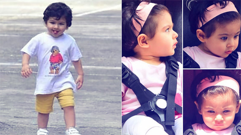 Taimur Sticks His Tongue Out For The Paps, Inaaya Enjoys An Afternoon Stroll