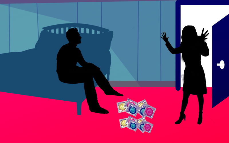Husband's Foreign Sojourn, Exotic Hotel, Wife's Surprise Visit And Packet Of Condoms