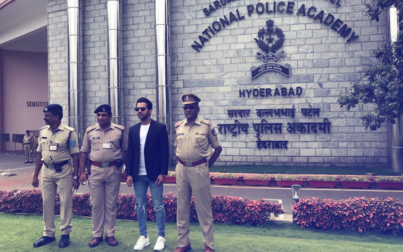 "Rajkummar Rao Visits National Police Academy; Thanks ""True Heroes"" Of Our Country"