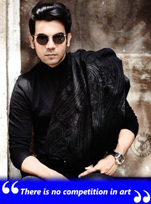 rajkummar rao there is no competition in art