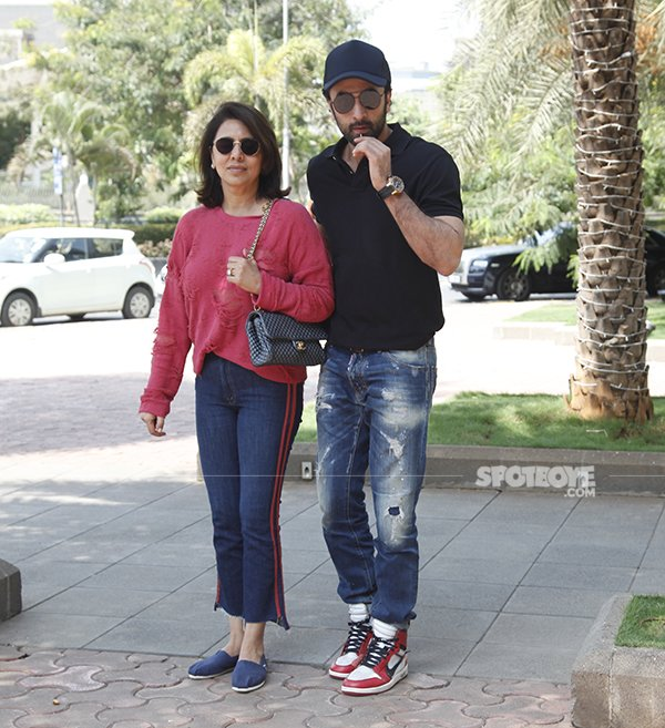 Ranbeer Kapoor With Neetu Singh Kapoor