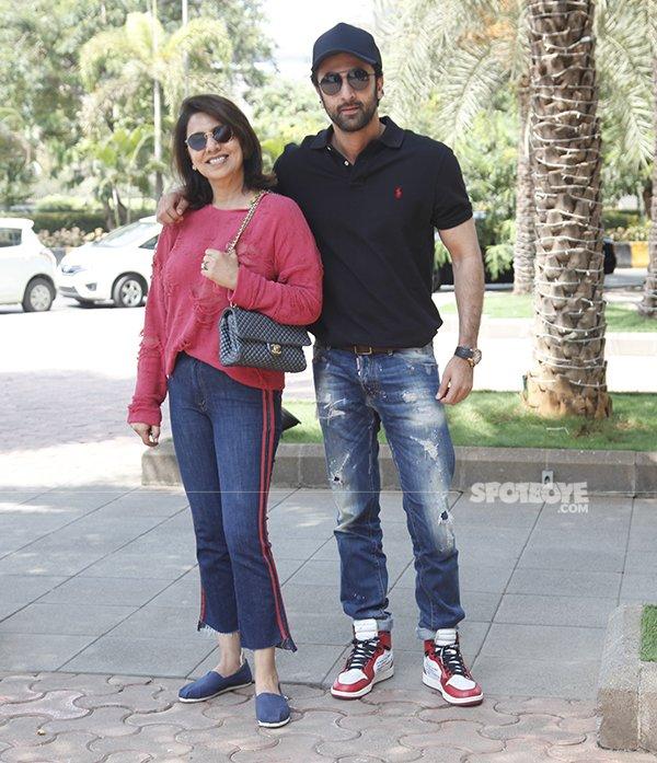Ranbeer Kapoor With His Mother Neetu Singh Kapoor