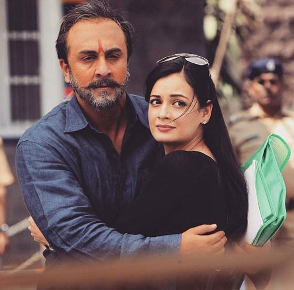 ranbir kapoor and dia mirza in sanju