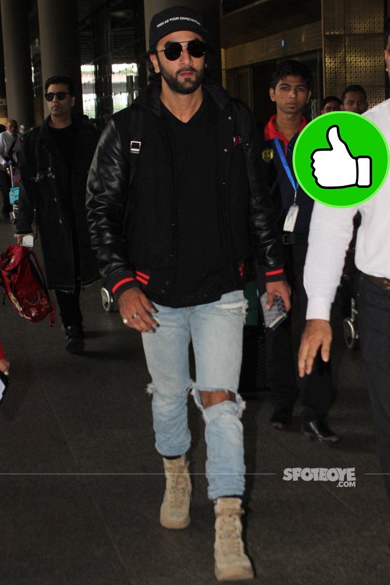 ranbir kapoor at the international airport