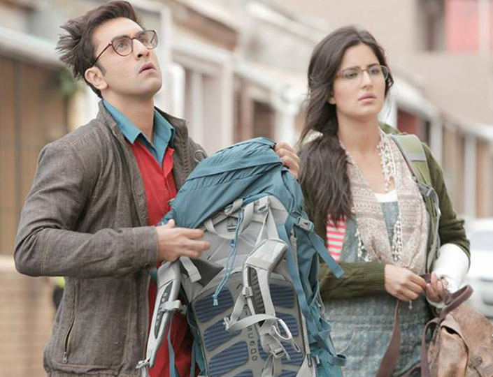ranbir kapoor katrina kaif in still from jagga jasoos