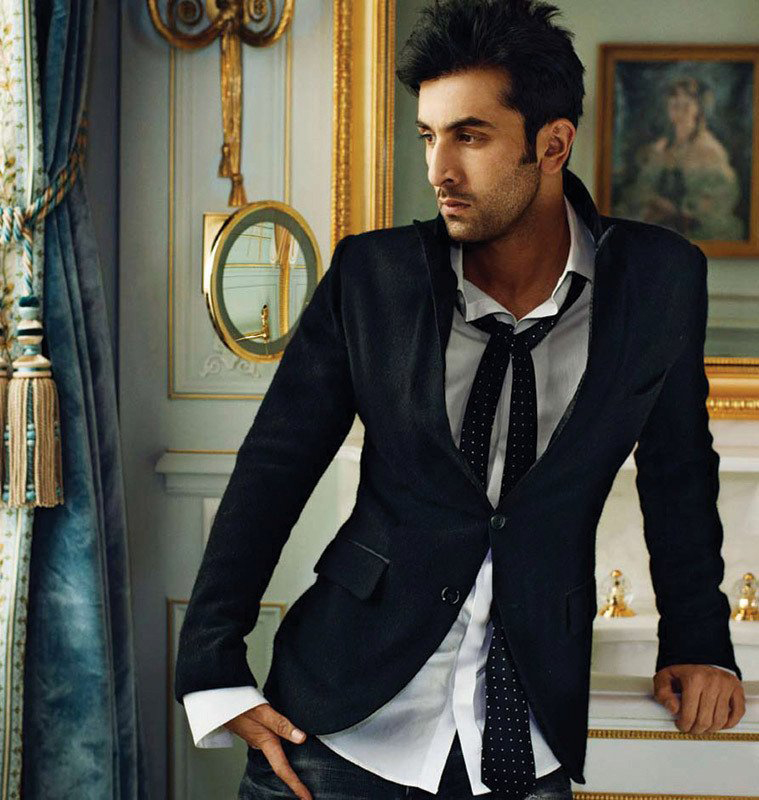 ranbir kapoor poses for a photoshoot