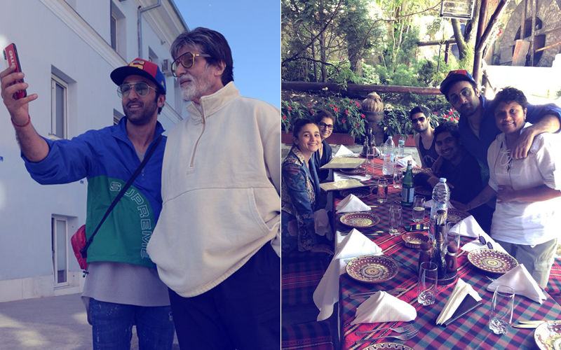 On-The-Sets Of Brahmastra: Amitabh Bachchan & Ranbir Kapoor Bond Over 'Selfies', Team Enjoys A Meal Together